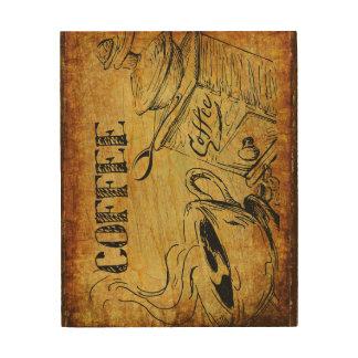 Coffee time wood wallart wood prints