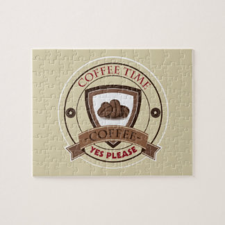 Coffee Time Yes Please Logo Jigsaw Puzzle