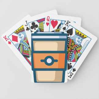 Coffee to go bicycle playing cards