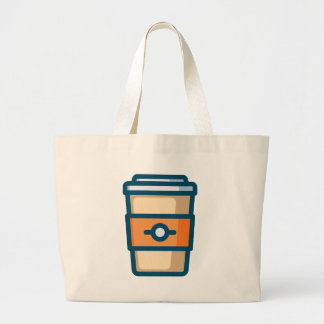 Coffee to go large tote bag