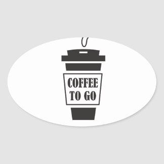 coffee tons go oval sticker