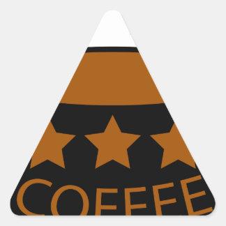 Coffee Triangle Sticker