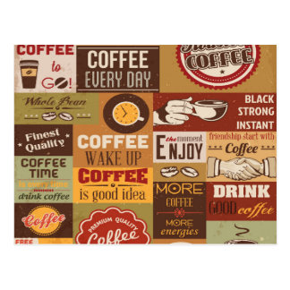 Coffee Typography Postcard
