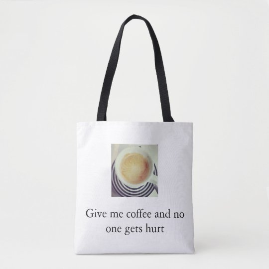 Coffee violence tote bag