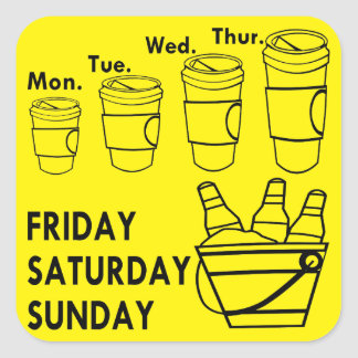 Coffee Week & Beer Weekend Square Sticker