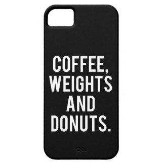Coffee, Weights and Donuts - Funny Novelty Gym Case For The iPhone 5