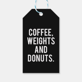Coffee, Weights and Donuts - Funny Novelty Gym Gift Tags