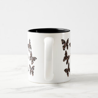 Coffee winged butterfly mug