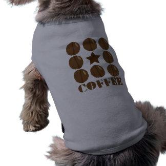 Coffee with beans doggie tee shirt