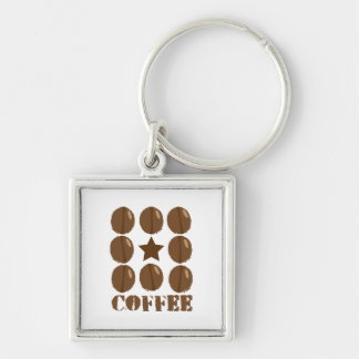 Coffee with beans key chain