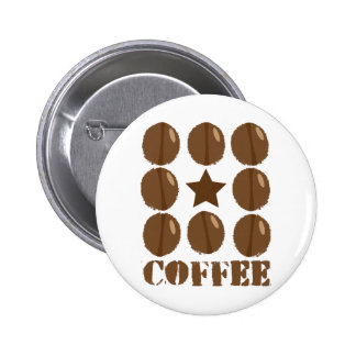 Coffee with beans pins