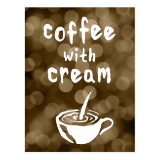 coffee with cream comment card postcard