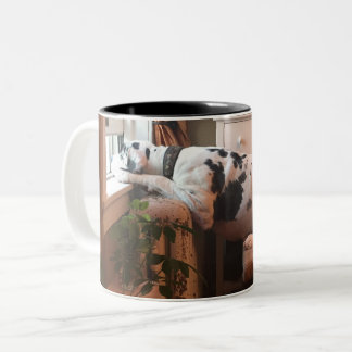 Coffee with Dottie! Two-Tone Coffee Mug