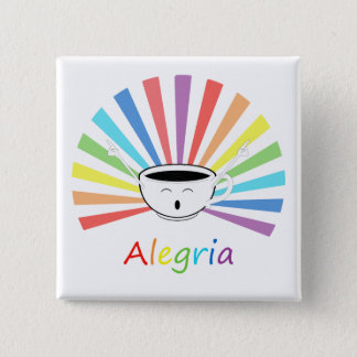 Coffee with feelings 2 inch square button
