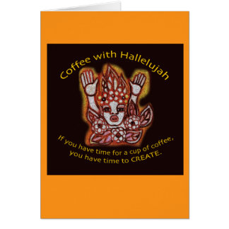 Coffee with Hallelujah Card