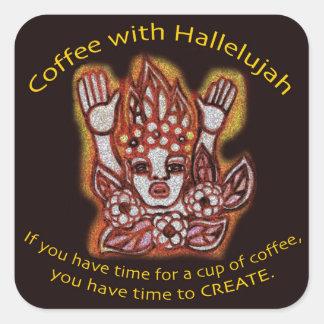 Coffee with Hallelujah Sticker