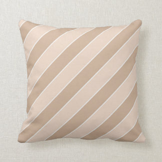 Coffee with Milk Striped Square Pillow