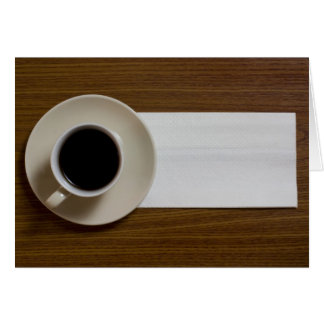 Coffee with napkin card