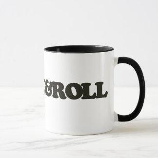 Coffee with rock and roll mug
