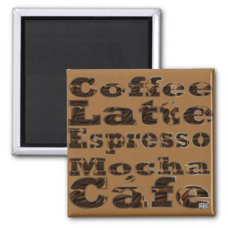 Coffee Words Magnet