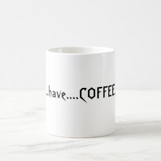 Coffeelover's slogan magic mug