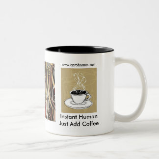 coffeesteamfabric, coffee steam, Instant HumanJ... Two-Tone Coffee Mug