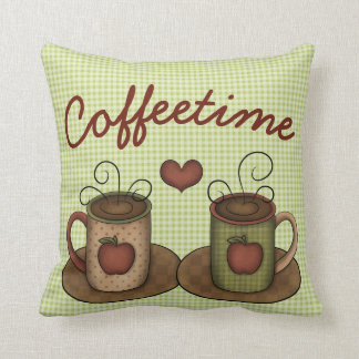 Coffeetime Throw Pillow