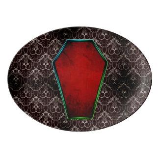Coffin Red Porcelain Serving Platter