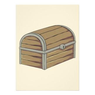 Coffre au trésor en bois antique fait sur commande cartons d'invitation