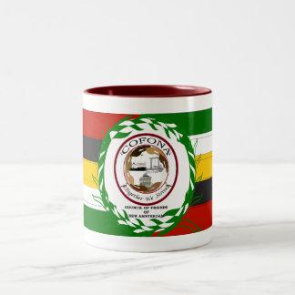 Cofona Inc. Guyana Flag Colors Two-Tone Mug