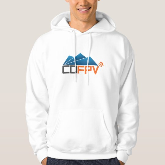 COFPV Hoodie with blue/grey/orange logo