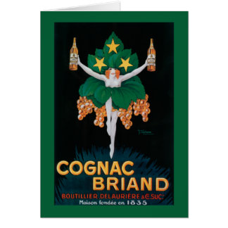 Cognac Briand Promotional Poster Card