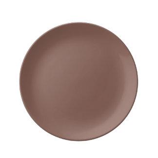 Cognac Porcelain Plate