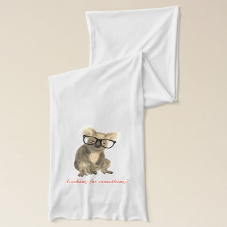 cohala with glasses looking for something scarf