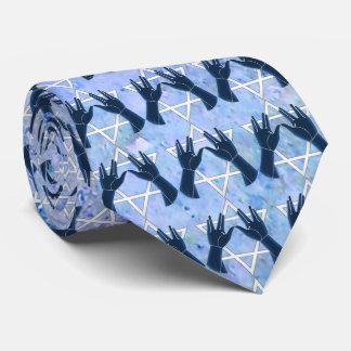 Cohanim Hands - Magen David - Blue Rock Tie