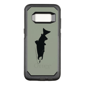 Coho Salmon in Silhouette OtterBox Commuter Samsung Galaxy S8 Case