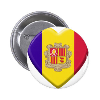 Coil Andorre flag 2 Inch Round Button