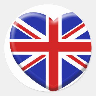 coil England flag Classic Round Sticker