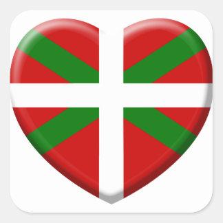 coil flag Basque Country Square Sticker