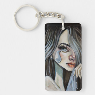 Coil for Ever Double-Sided Rectangular Acrylic Keychain