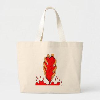 coil me large tote bag