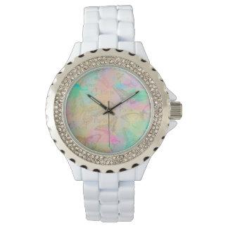 Coil Paris love Strass alloy of white enamel Wrist Watch