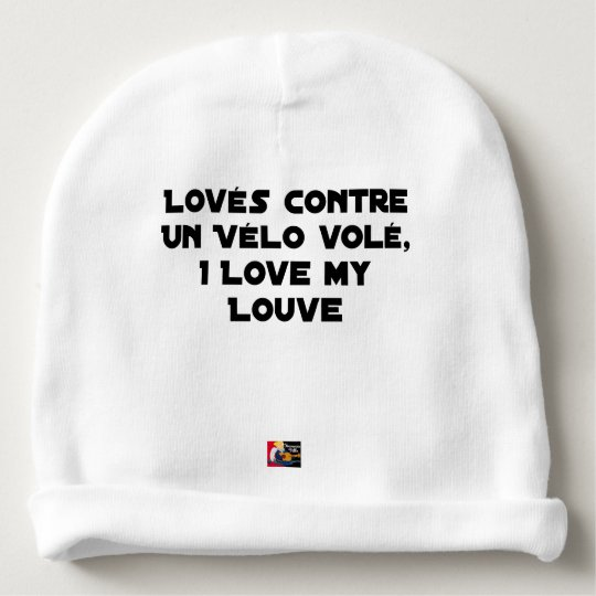 Coiled against a Stolen Bicycle, I Coils my Louve Baby Beanie