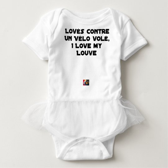 Coiled against a Stolen Bicycle, I Coils my Louve Baby Bodysuit
