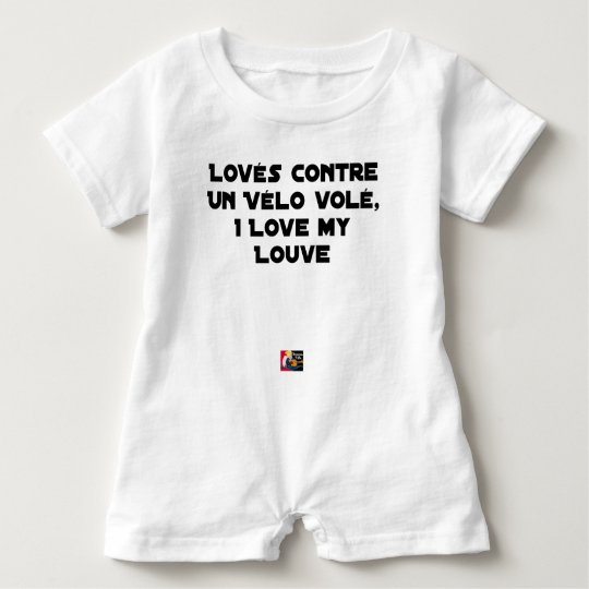 Coiled against a Stolen Bicycle, I Coils my Louve Baby Romper