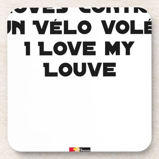 Coiled against a Stolen Bicycle, I Coils my Louve Coaster