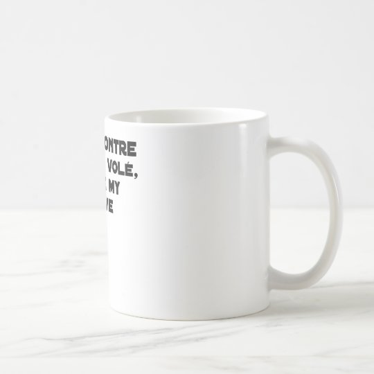 Coiled against a Stolen Bicycle, I Coils my Louve Coffee Mug
