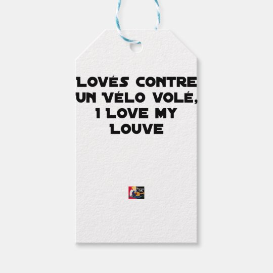 Coiled against a Stolen Bicycle, I Coils my Louve Gift Tags