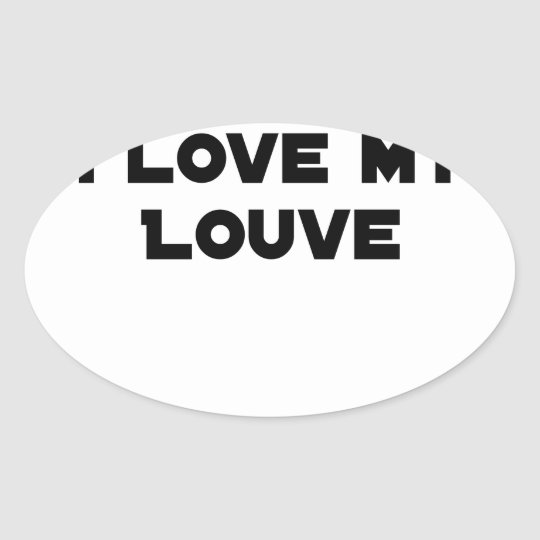 Coiled against a Stolen Bicycle, I Coils my Louve Oval Sticker