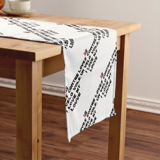 Coiled against a Stolen Bicycle, I Coils my Louve Short Table Runner